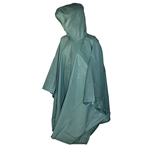 Totes Hunter Green Adult Rain Poncho