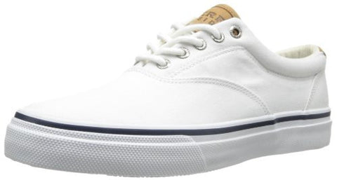 Sperry Top-Sider Men's Salt Washed Striper CVO Laceless,White,11 M US