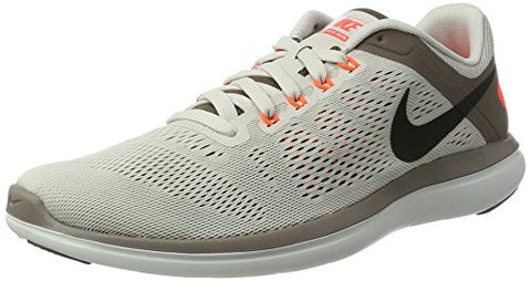 Nike Mens Flex 2016 RN Running Shoe Light Bone/Dark Mushroom/Hyper Orange/Black 9.5 D(M) US