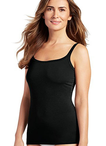 Jockey Women's Tops Supersoft Camisole, black, S