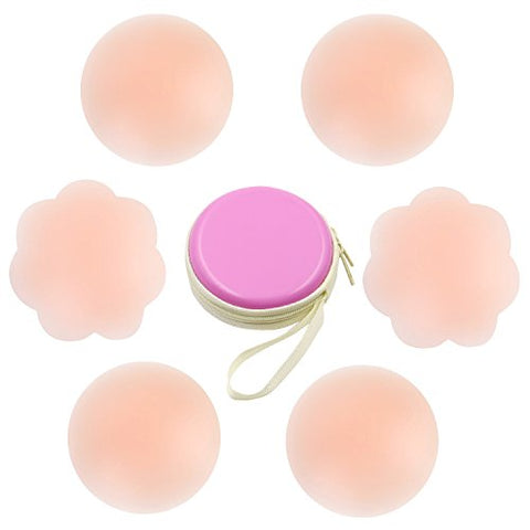 3 Pairs Pasties Women Nippleless Cover Reusable Adhesive Silicone Nipple Covers