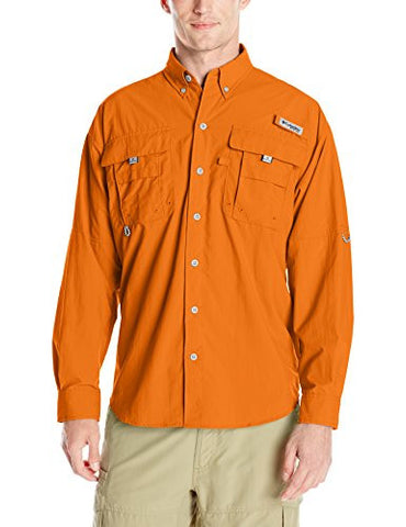 Columbia Sportswear Men's Bahama II Long Sleeve Shirt, Valencia, XX-Large