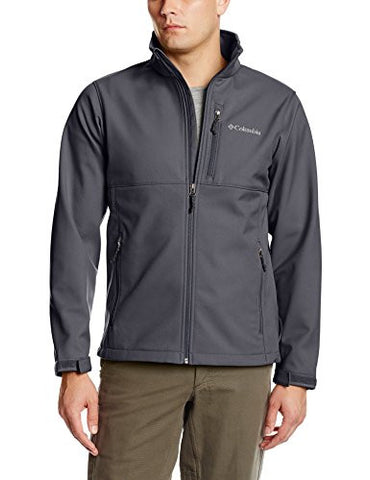 Columbia Men's Big & Tall Ascender Softshell Jacket, Graphite, 2X/Tall