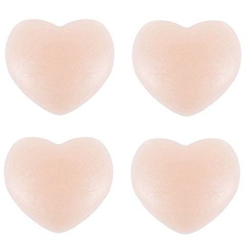 Women Sexy Silicone Heart Pasties Bra Cover Ups Concealers Reusable Adhesive Nipple Covers