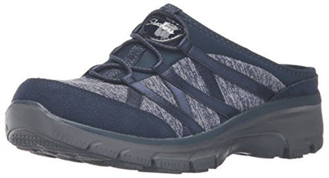 Skechers Women's Easy Going-Rolling Flat, Navy/Multi, 9.5 M US