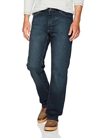 Wrangler Men's Authentics Classic Relaxed-Fit Jean, Military Blue Flex, 38X32