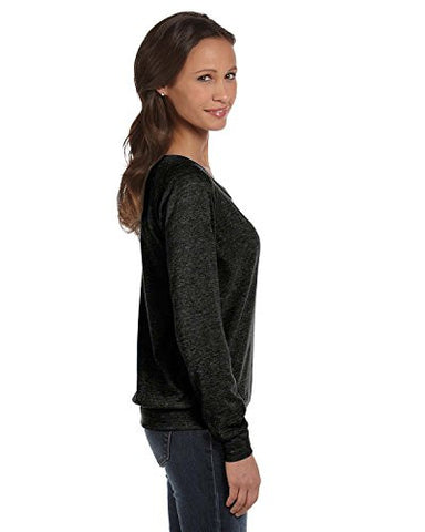 Alternative womens Polyster/Cotton Slouchy Pullover(AA1990)-ECO BLACK-L-2PK