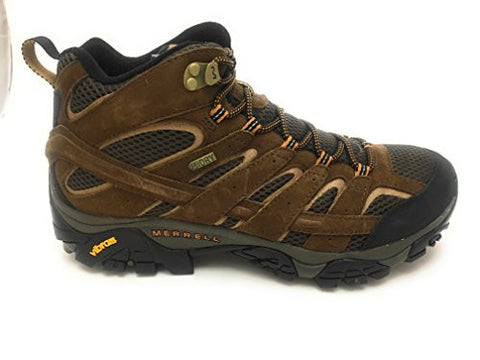 Merrell Men's Moab 2 Mid Waterproof Hiking Boot, Earth, 10 M US