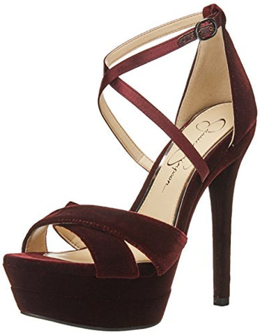 Jessica Simpson Women's Roxelle Heeled Sandal, Rouge Noir, 8.5 Medium US