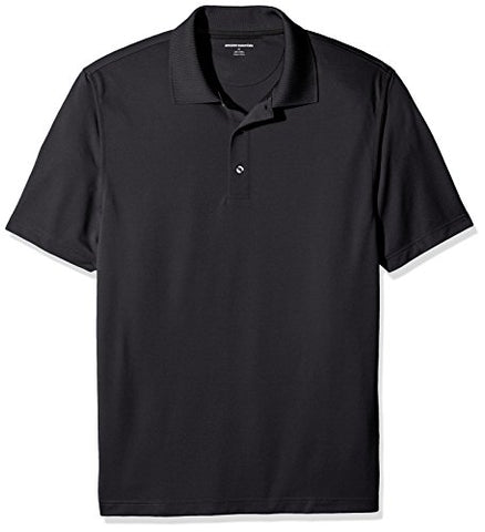 Amazon Essentials Men's Quick Dry Golf Polo Shirt, Black, XX-Large