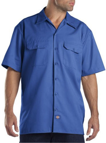 Dickies Shirts Short Sleeve Work Shirt (3XL/Royal Blue)