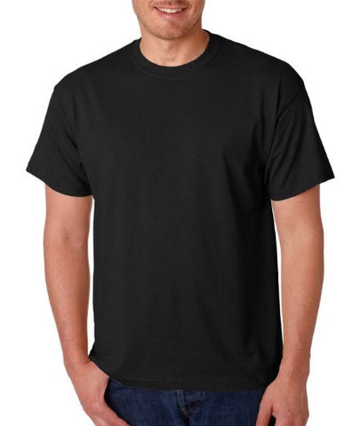 Gildan Adult 5.6 oz 50/50 Short Sleeve T-Shirt in Black - Large