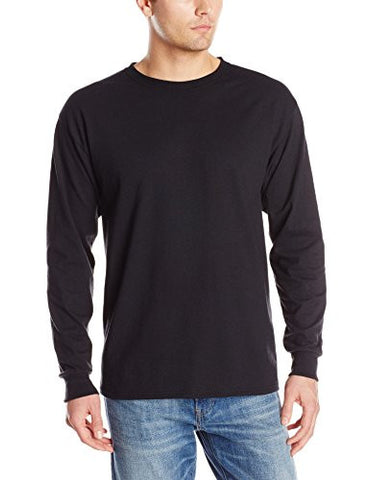 Jerzees Men's Adult Long Sleeve Tee, Black, Large