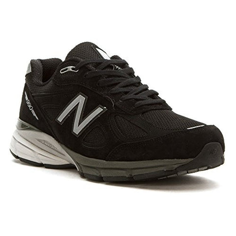 New Balance Men's M990V4 Running Shoe, Black/Silver, 10.5 D US