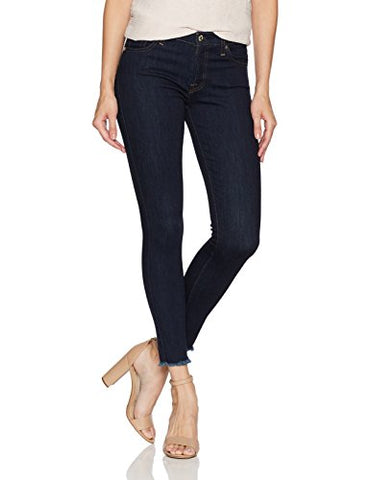 7 For All Mankind Women's Ankle Gwenevere Skinny Jean with Raw Hem, Tribute Rinse, 28