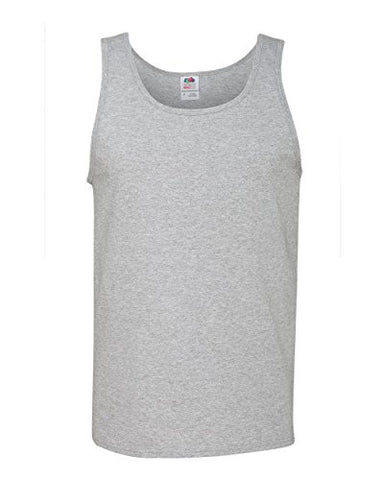 Fruit of the Loom Heavy Cotton HD 100% Tank Top, Athletic Heather, Medium