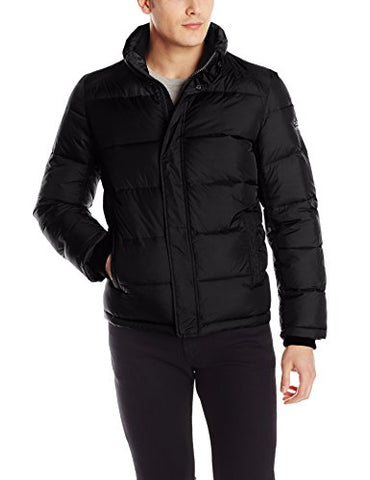 Calvin Klein Men's Puffer Jacket, Black, Medium