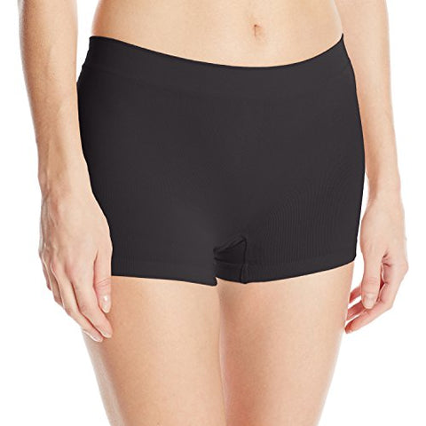 Maidenform Pure Genius Seamless Boyshort 40848, 7, Black