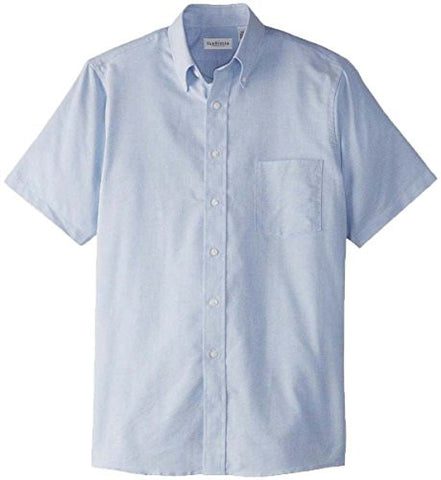 Van Heusen Men's Short Sleeve Wrinkle Resistant Shirt, LIGHT BLUE, 2XL