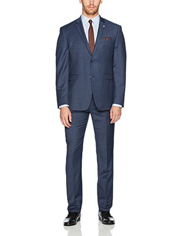 Original Penguin Men's Slim Fit Solid Suit, Blue, 44 Regular