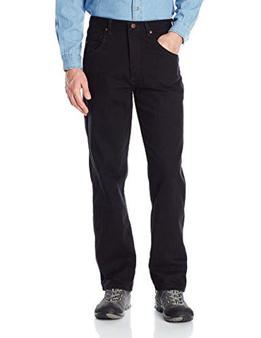 Wrangler Men's Rugged Wear Relaxed Fit Jean ,Overdyed Black,42x30