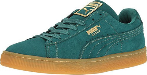PUMA Men's Suede Classic GF Storm/Metallic Gold Athletic Shoe