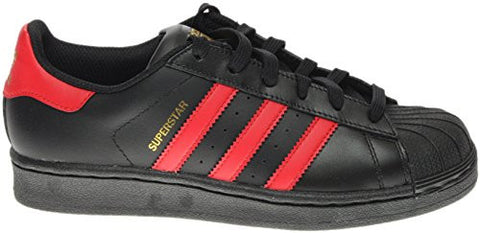 adidas Originals Superstar J, Cblack,Scarle,Goldmt-S80695, 6 Medium US