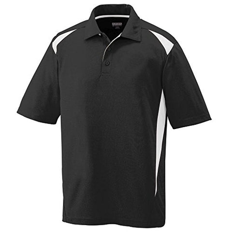 Augusta Sportswear Mens Premier Sport Polo Shirt-Black/White-XL