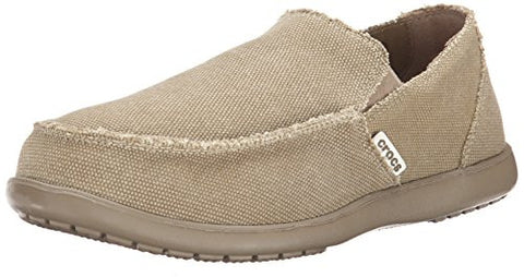 Crocs Men's Santa Cruz Slip-On Loafer,Khaki/Khaki,12 (D)M US