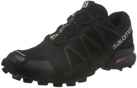 Salomon Men's SPEEDCROSS 4 Athletic Shoe, black A1U8, 11 M US