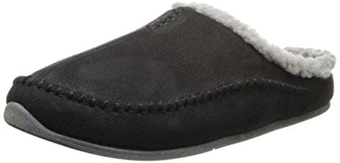 Deer Stags Men's Nordic Slip On Slipper, Black, 15 M US