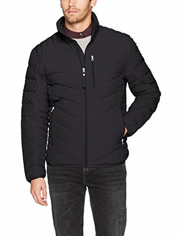 Marc New York by Andrew Marc Men's Bergren Ultra Stretch Packable Jacket, Black, Medium