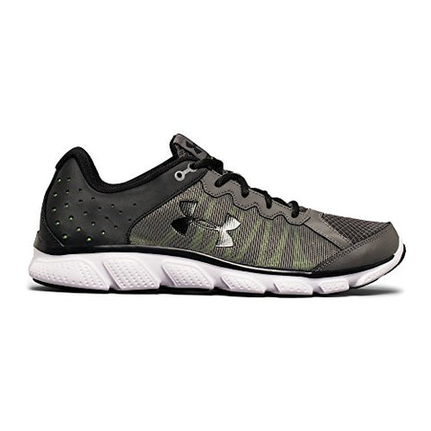 Under Armour Men's Micro G Assert 6 Running Shoes, Graphite/Quirky Lime, 10 D(M) US