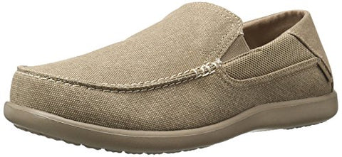 crocs Men's Santa Cruz 2 Luxe M Slip-On Loafer, Khaki/Khaki, 10 M US