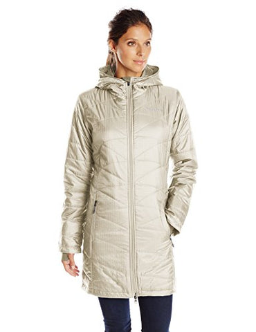 Columbia Women's Mighty Lite Hooded Jacket, Chalk, Large