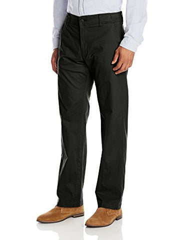 Lee Men's Performance Series Extreme Comfort Khaki Pant, Black, 38W x 30L