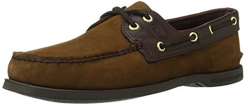 Sperry Top-Sider Men's A/O 2 Eye Boat Shoe,Brown/Buck Brown,9 W US