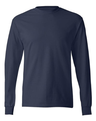 Hanes Men's ComfortSoft Long Sleeve Crewneck T-Shirt, Navy, X-Large