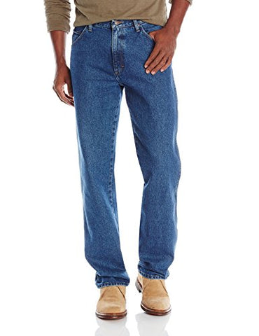 Wrangler Authentics Men's Classic Regular Fit Jean, Stonewash Mid, 34W x 32L