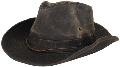 Dorfman Pacific Men's Band Binding Hat,Brown,Medium