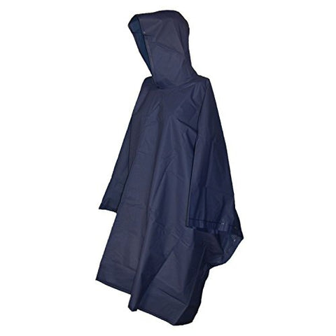 Raines Adult Rain Poncho featuring Pullover Design and Side Snaps, Includes Mesh Carry Case, Dark Blue, 1-pack