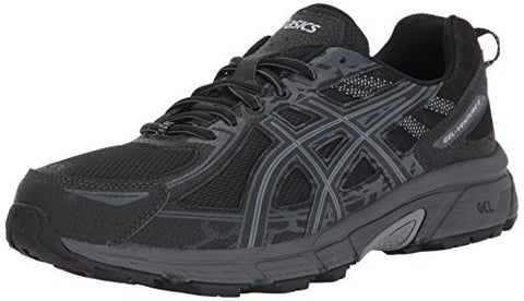 ASICS Men's Gel-Venture 6 Running-Shoes, Black/Phantom/Mid Grey, 13 4E US
