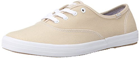 Keds Women's Champion Original Canvas Sneaker,Stone,5.5 W US