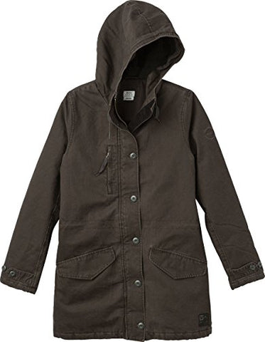 RVCA Women's Ground Control Sherpa Lined Jacket, Pirate Black, M