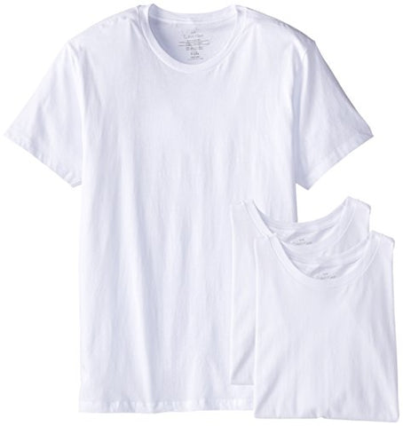 Calvin Klein Men's Undershirts Cotton Multipack Crew Neck Tshirts,White,Large