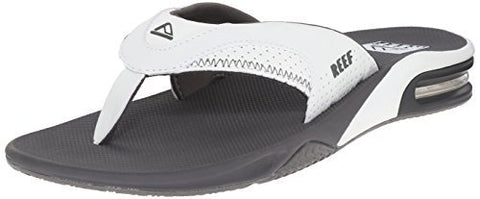 Reef Men's Fanning Sandal (9 D(M) US / 42 EUR, Grey/White)