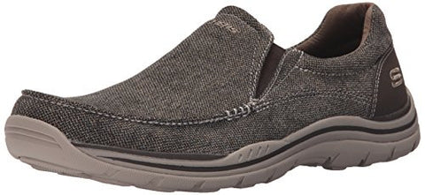 Skechers USA Men's Expected Avillo Oxford, Dark Brown, 10.5 M US