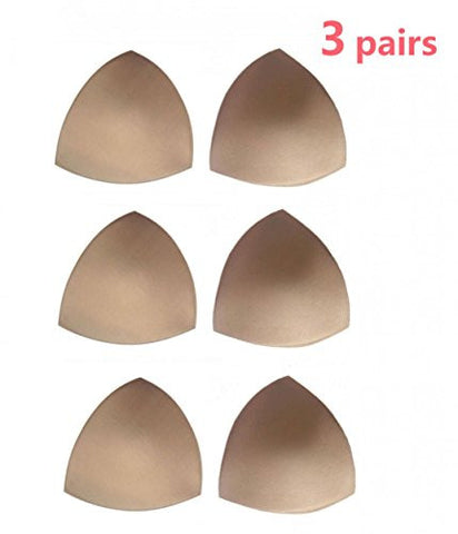 Womens Removable Smart Cups Bra Inserts Pads For Swimwear 3 Pairs In Set