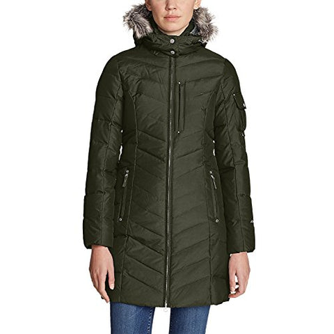 Eddie Bauer Women's Sun Valley Down Parka, Dk Loden M Regular