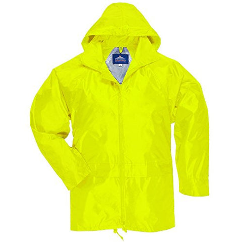 Portwest Classic Rain Jacket, Small to XXL, 3 colours - Yellow - L